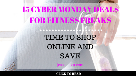 15 cyber monday deals for fitness freaks - jenbaucom.com #fitness #cybermonday #shopping