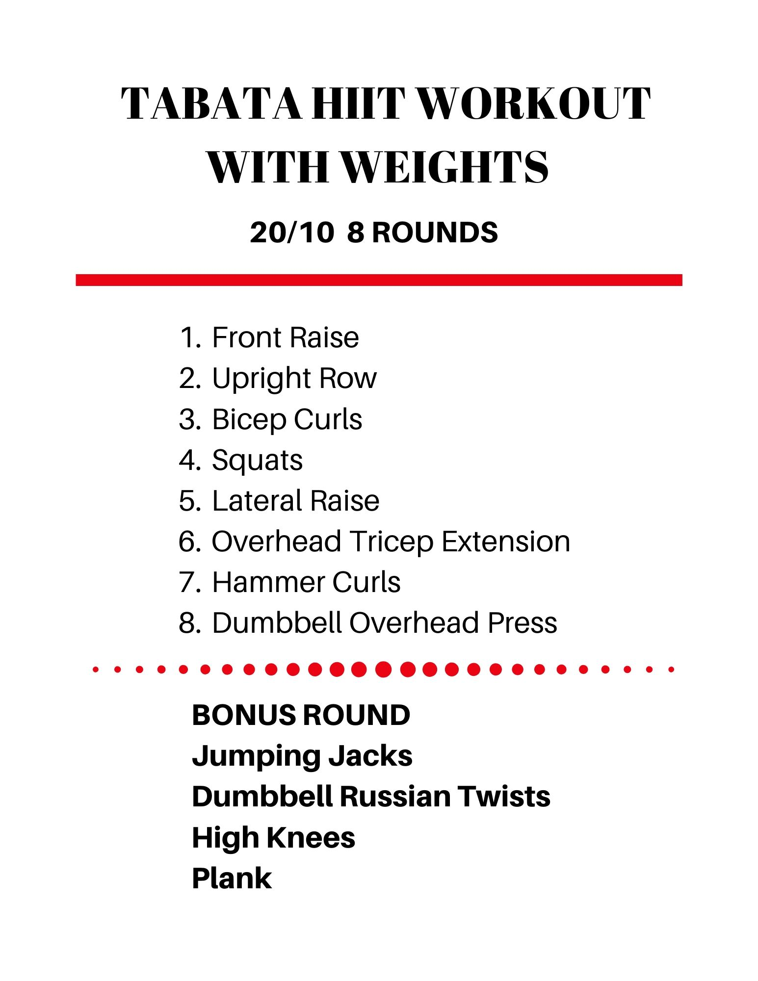 Tabata HIIT Workout with Weights - Check out all the workouts at jenbaucom.com
