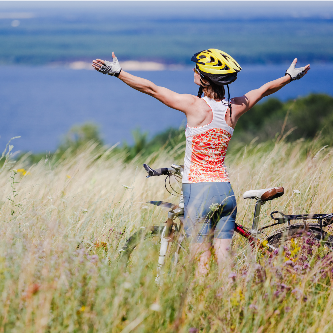cycling is an awesome way to stay fit