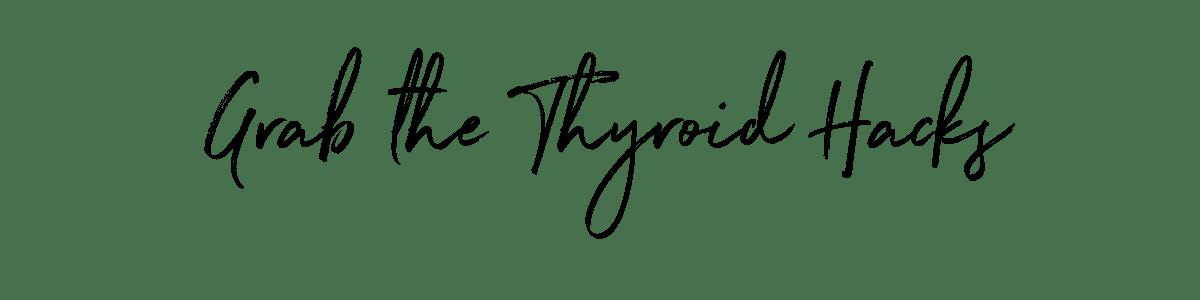 Grab the Thyroid Hacks and Skyrocket your Energy NOW! get the hacks at jenbaucom.com #thyroid #thyroidhacks #hypothyroidtips