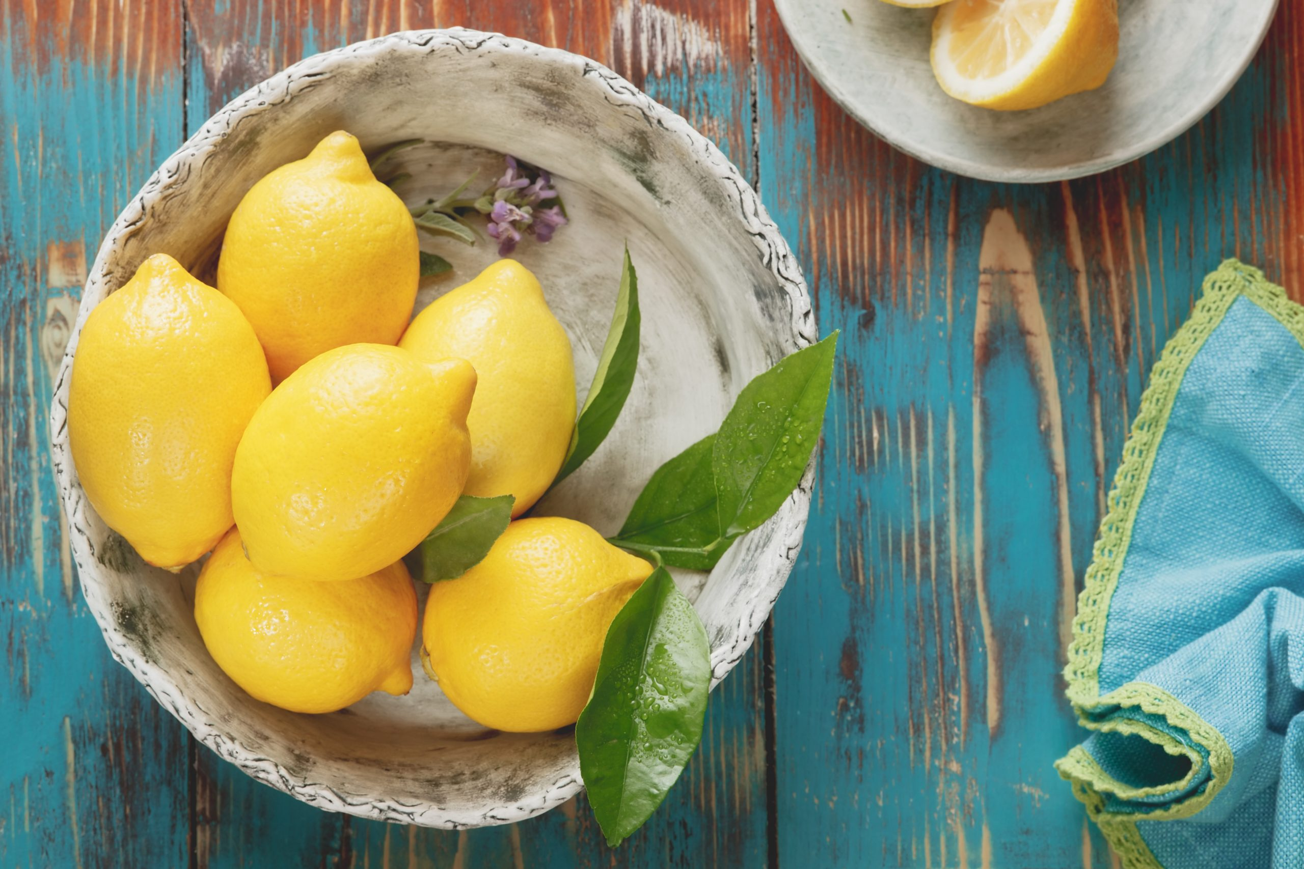 Lemons help heal your throat chakra