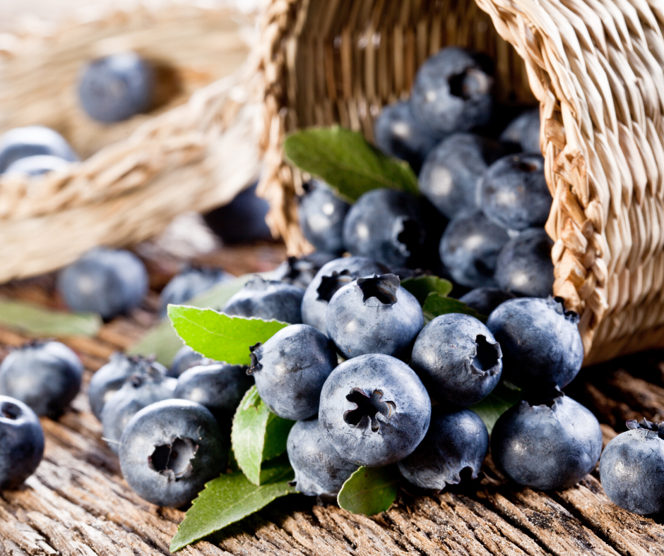 Blueberries are the best for detoxing the throat chakra